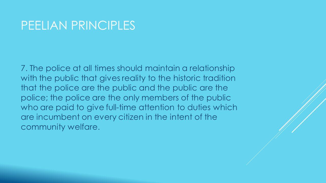 PEELIAN PRINCIPLES 7.