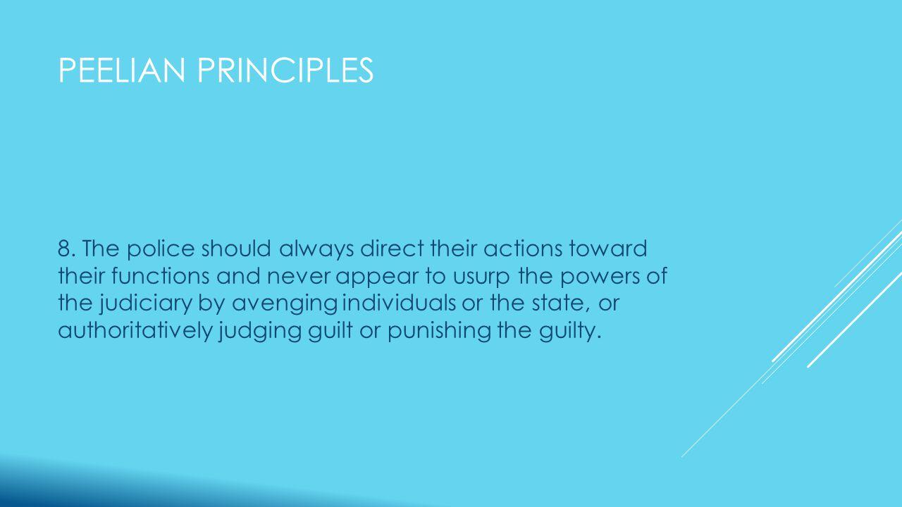 PEELIAN PRINCIPLES 8.