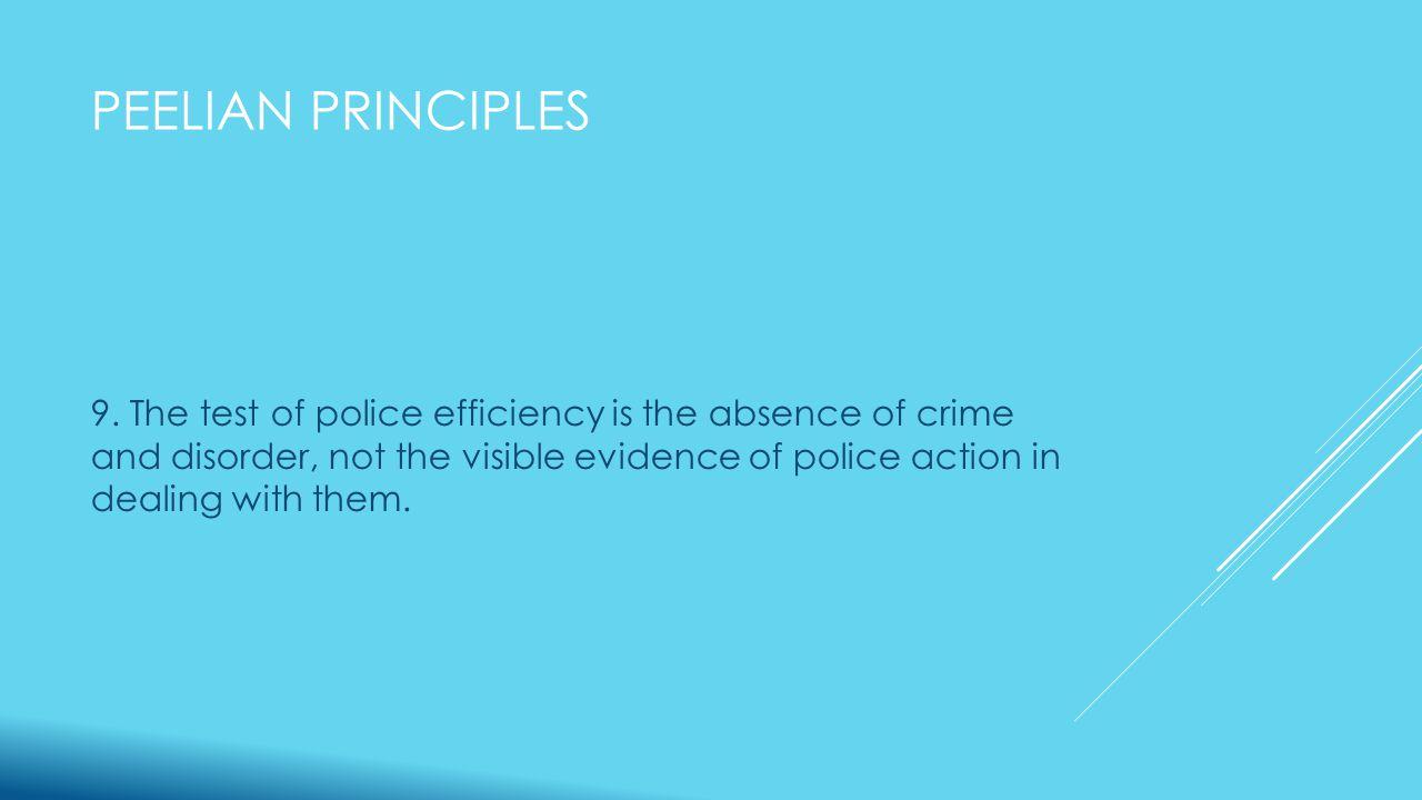 PEELIAN PRINCIPLES 9.