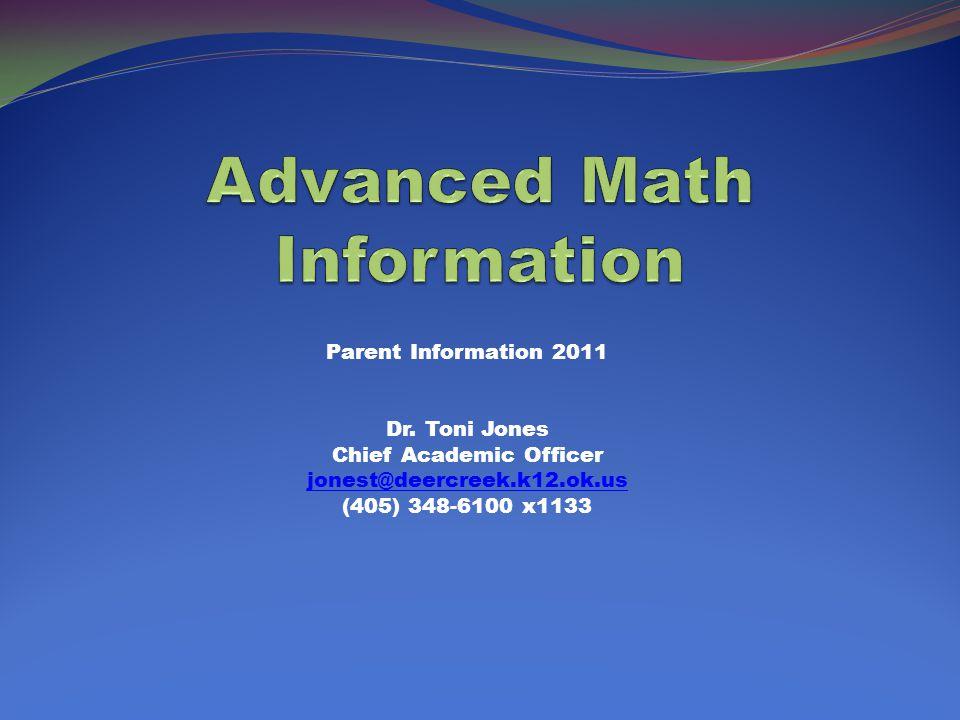 Parent Information 2011 Dr.