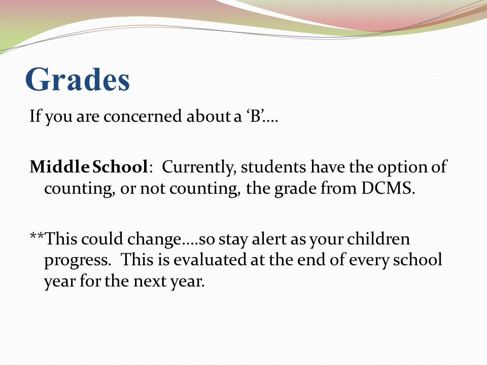 How Algebra 1 Grades Transfer To HS ….This Does NOT apply to other courses.