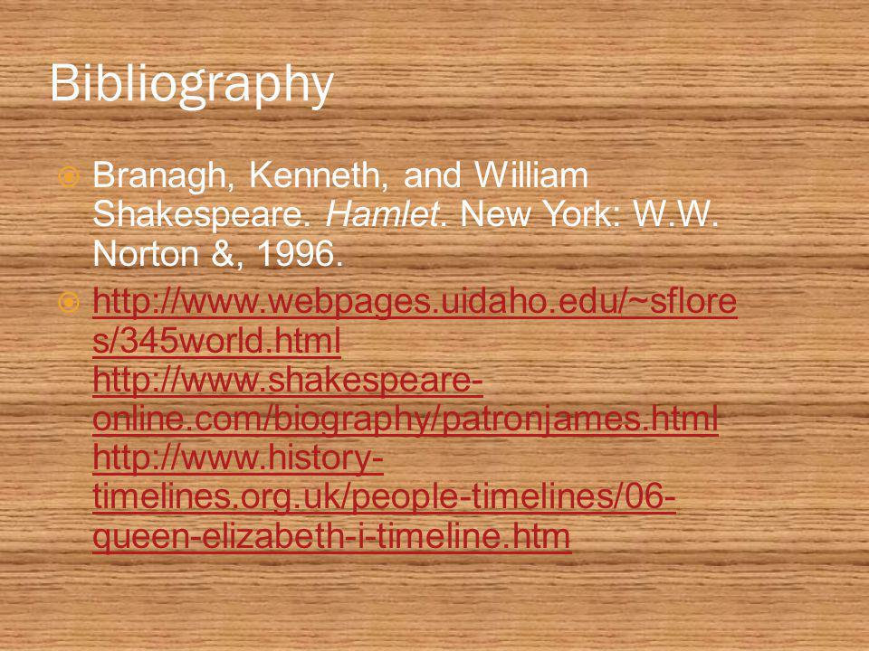 Bibliography  Branagh, Kenneth, and William Shakespeare.