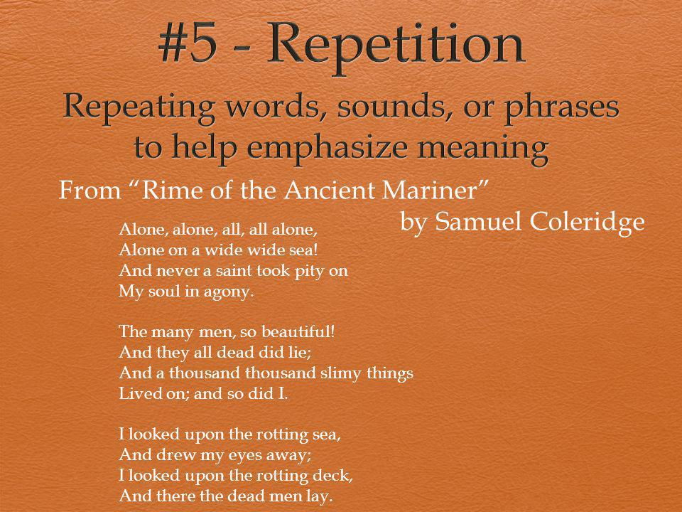 """From """"Rime of the Ancient Mariner"""" by Samuel Coleridge Alone, alone, all, all alone, Alone on a wide wide sea! And never a saint took pity on My soul"""
