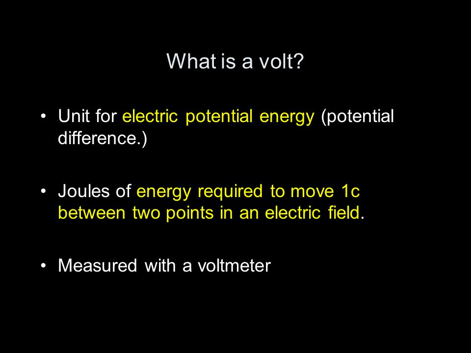 What is a volt.