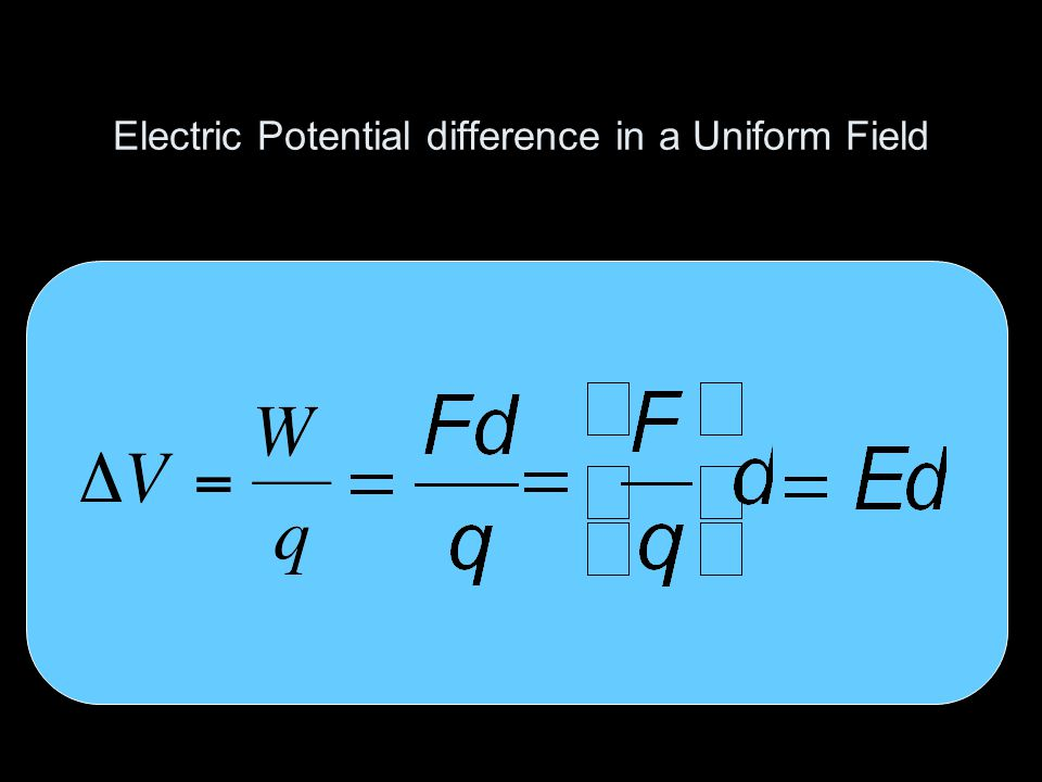 Electric Potential difference in a Uniform Field