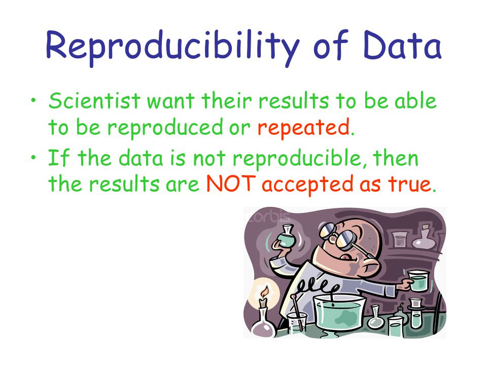 Reproducibility of Data Scientist want their results to be able to be reproduced or repeated. If the data is not reproducible, then the results are NO