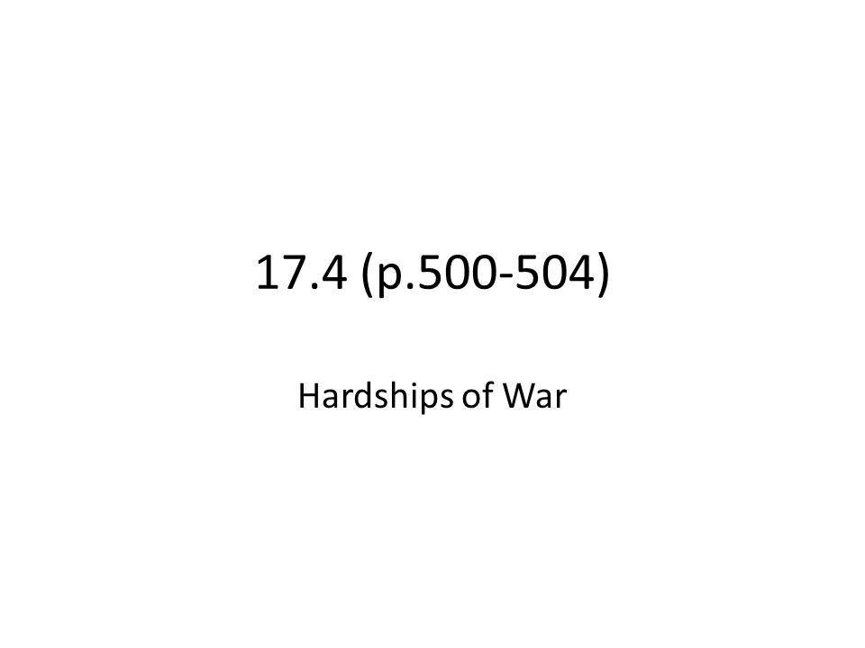 17.4 (p.500-504) Hardships of War