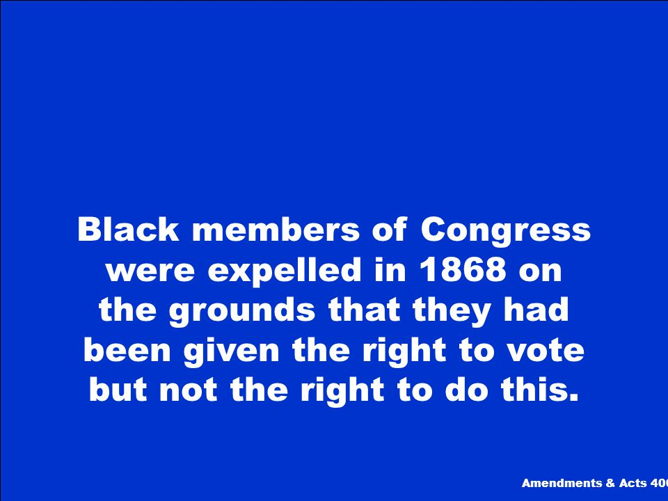 What is The 13th Amendments & Acts 300