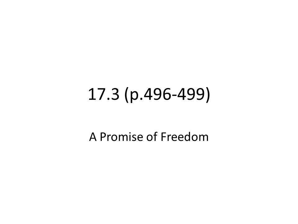 17.3 (p.496-499) A Promise of Freedom