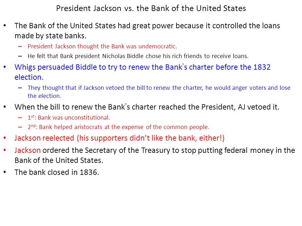 Chapter 12, Section 2 President Jackson vs.