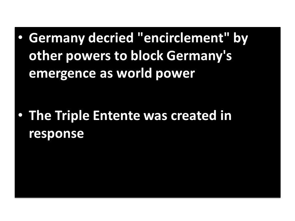 Germany decried