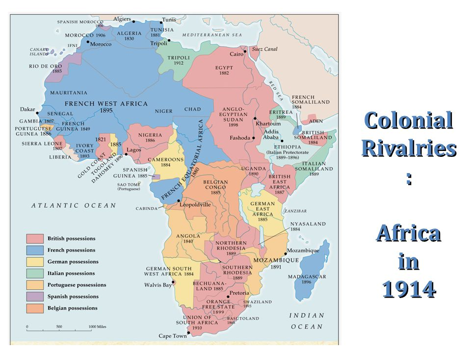 Colonial Rivalries : Africa in 1914