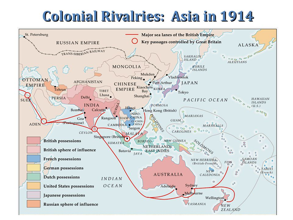 Colonial Rivalries: Asia in 1914
