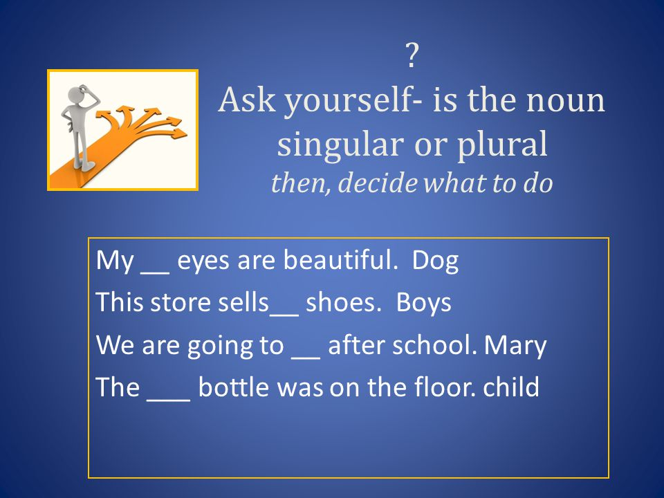 Ask yourself- is the noun singular or plural then, decide what to do My __ eyes are beautiful.