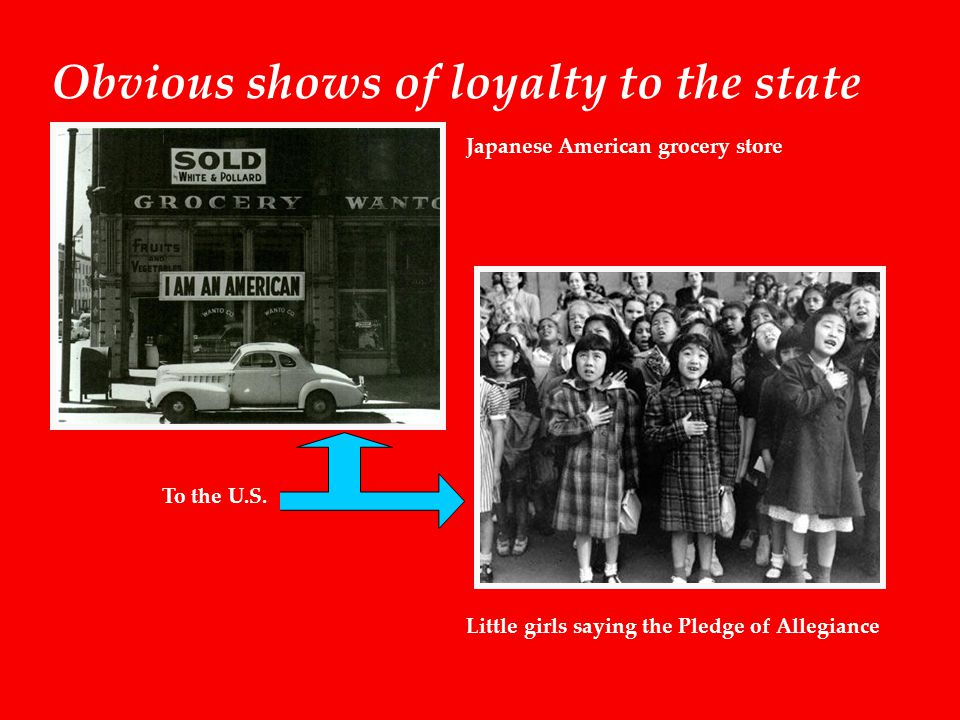 Obvious shows of loyalty to the state To the U.S.