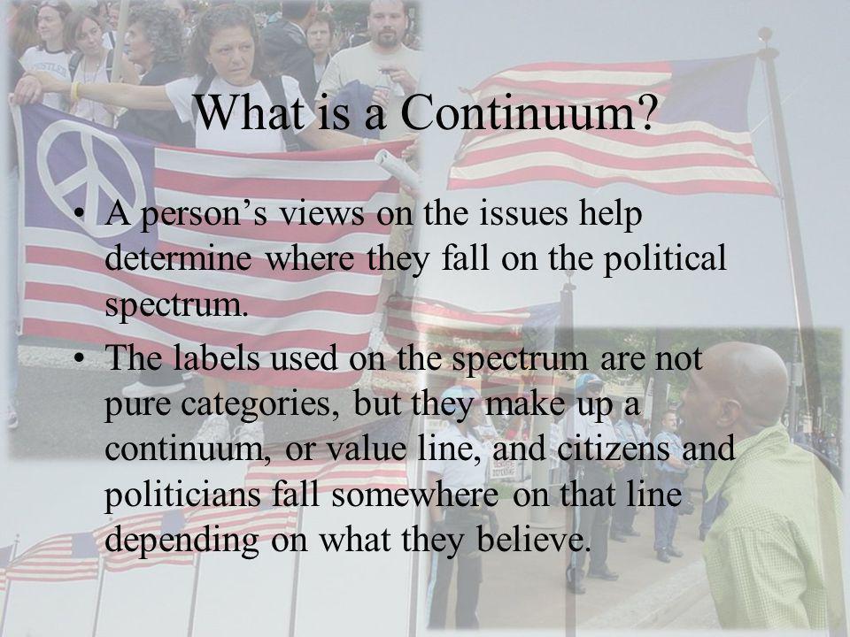 Factors That Determine Placement Two major factors shape political views.