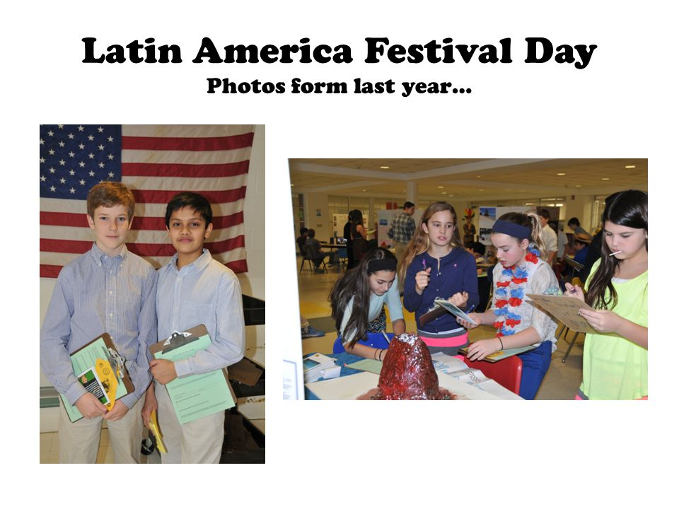 Latin America Festival Day Photos form last year…