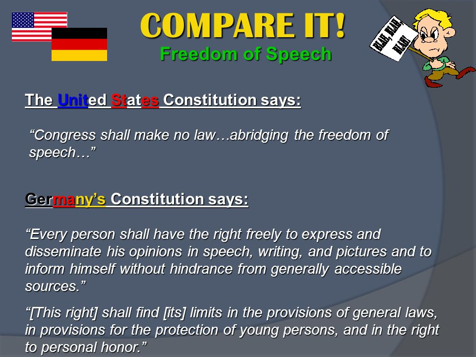 Also like the United States, Germany has a constitution.