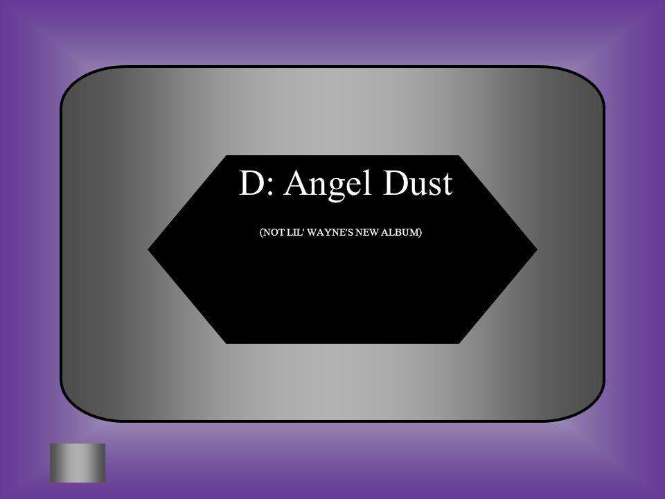 D: Angel Dust (NOT LIL' WAYNE'S NEW ALBUM)