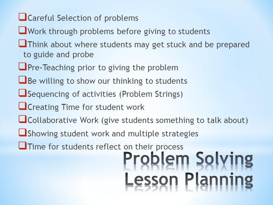 U Understand the Problem P Plan for solving the problem S Solve the problemCheck the Problem
