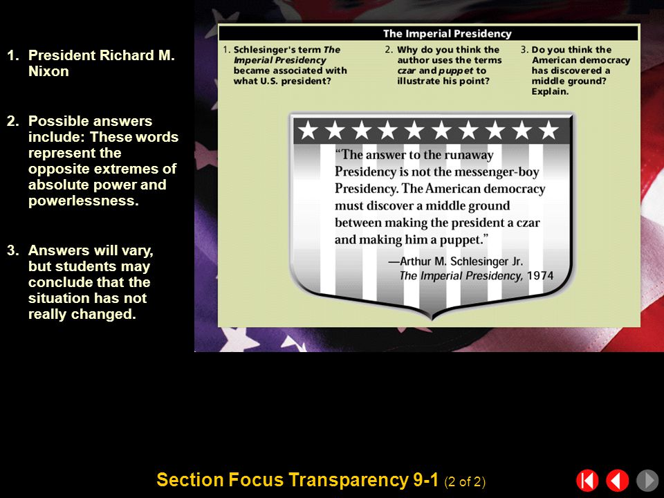 Section Focus Transparency 9-1 (1 of 2) Section Focus Transparency 1