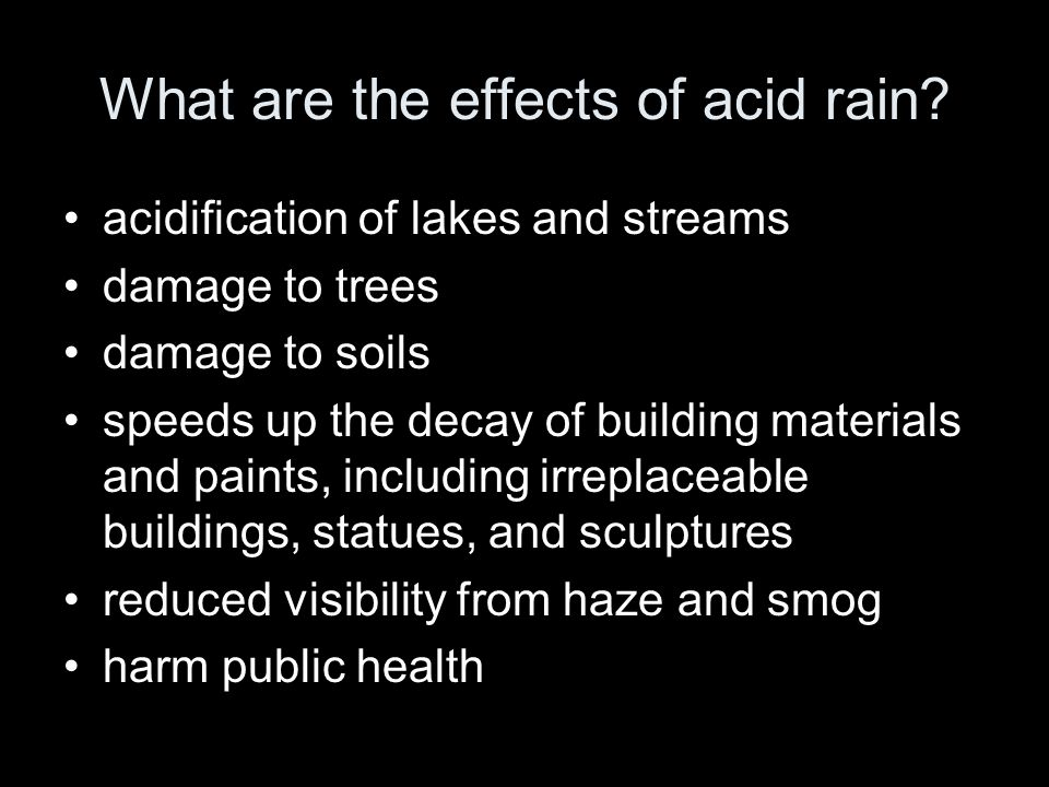 What are the effects of acid rain.