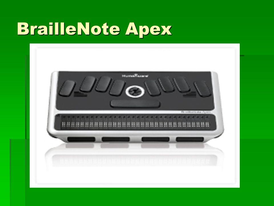 BrailleNote Apex