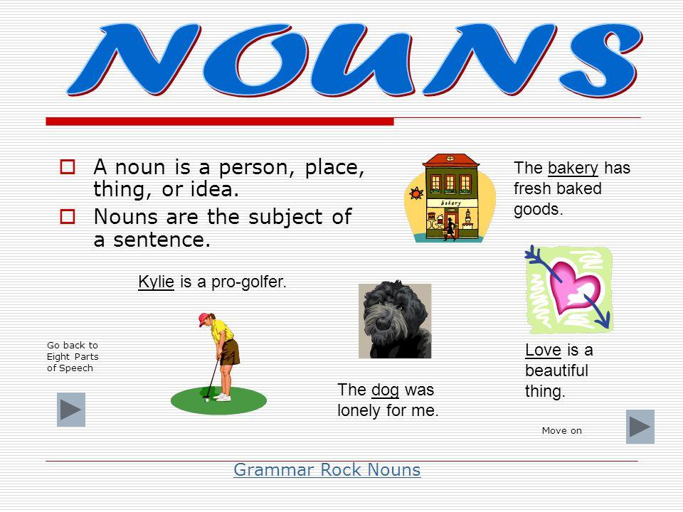  I take the place of noun. What am I? a. preposition b. verb c. interjection d. pronoun