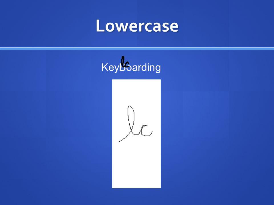Lowercase KeyBoarding