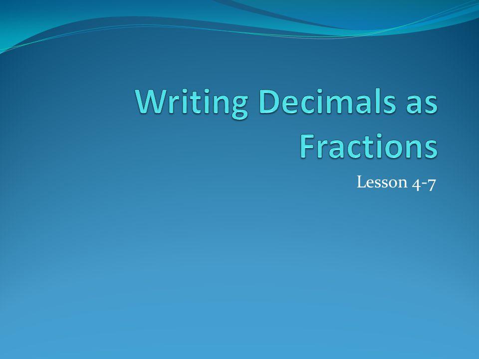 Lesson 4-7