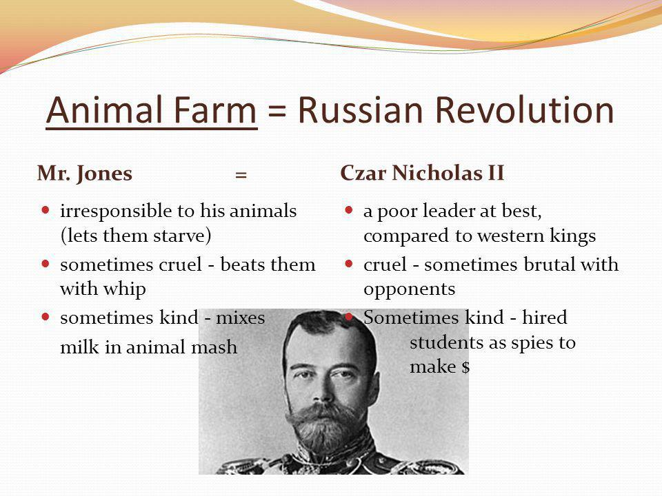 Animal Farm = Russian Revolution Mr.