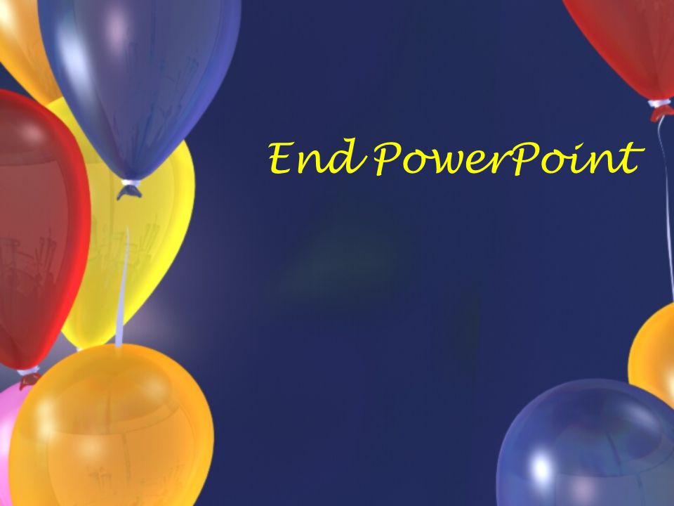 End PowerPoint