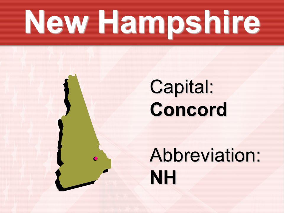 Capital:ConcordAbbreviation:NH