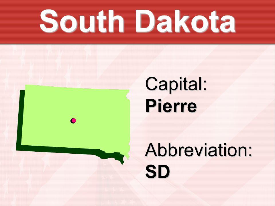Capital:PierreAbbreviation:SD