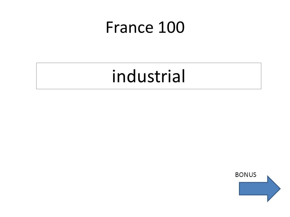 France 100 industrial BONUS