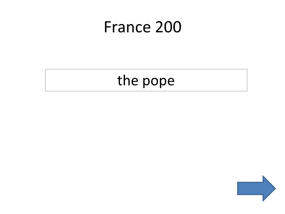 France 200 the pope