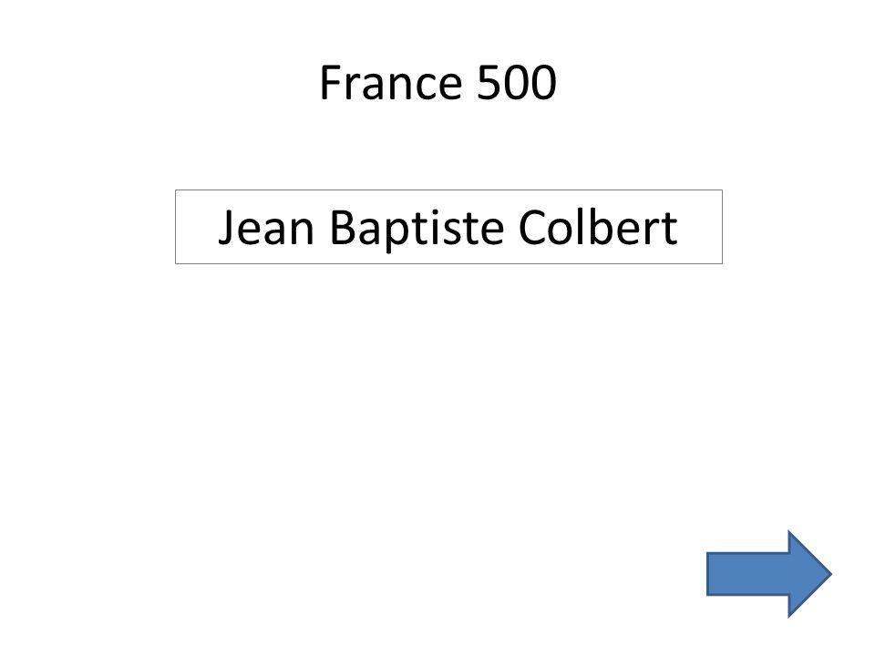 France 500 Jean Baptiste Colbert