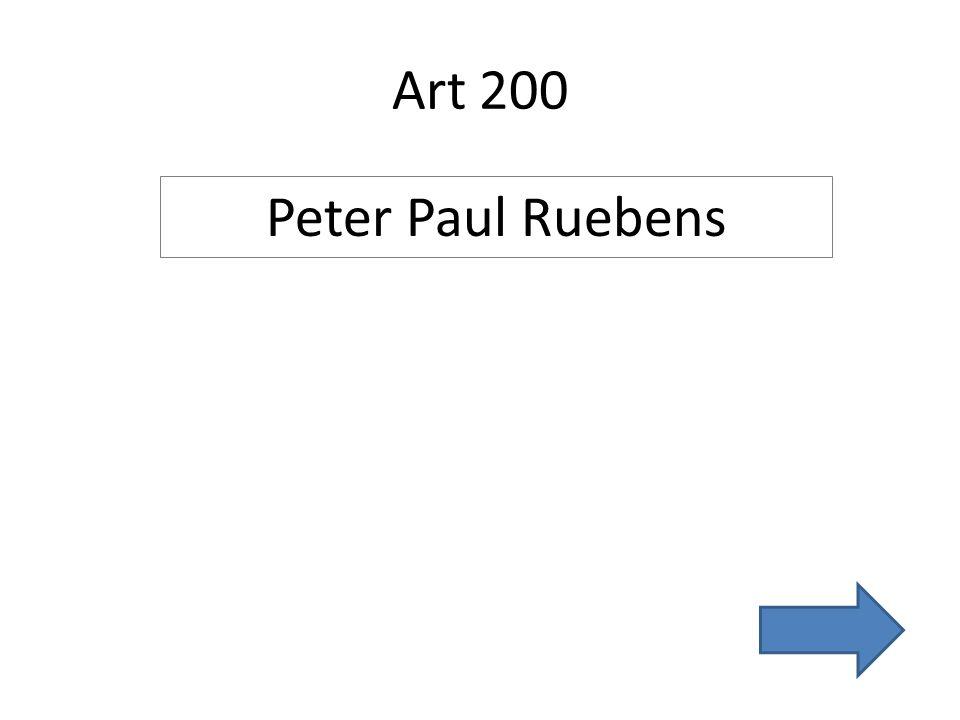 Art 200 Peter Paul Ruebens