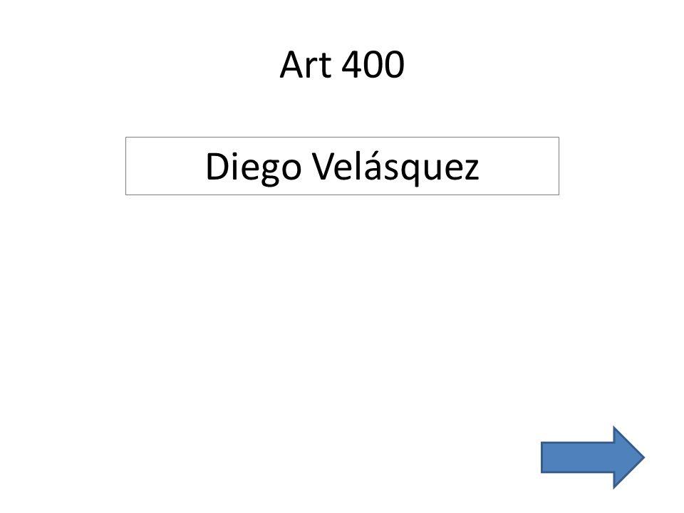 Art 400 Diego Velásquez