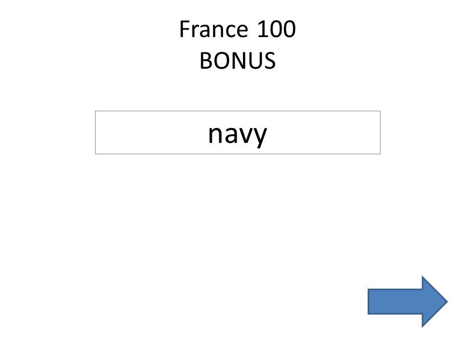 France 100 BONUS navy