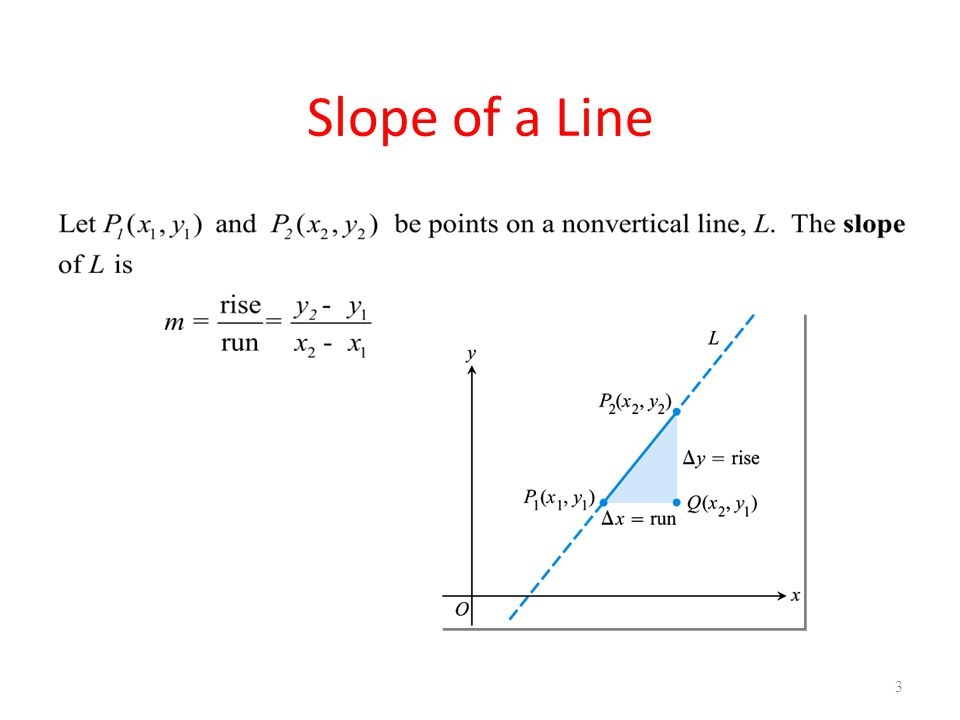 4 A line that goes uphill as x increases has a positive slope..