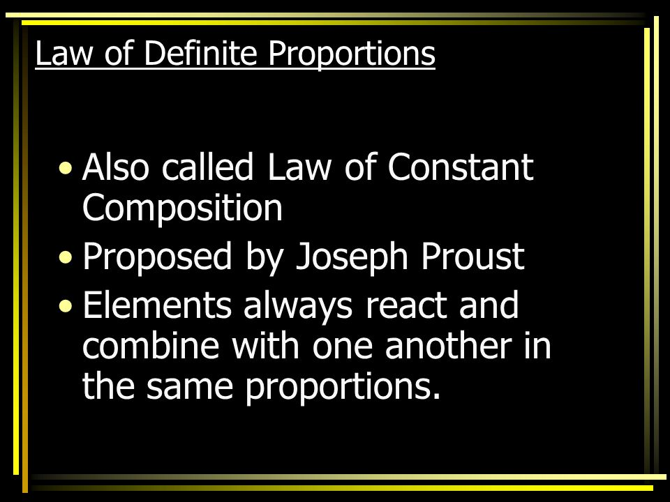 Law of Conservation of Mass (Matter) In a chemical reaction, matter is neither created nor destroyed. Lavosier measured the mass of chemicals before a
