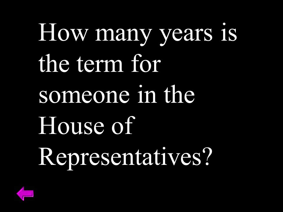How many years is the term for someone in the House of Representatives?