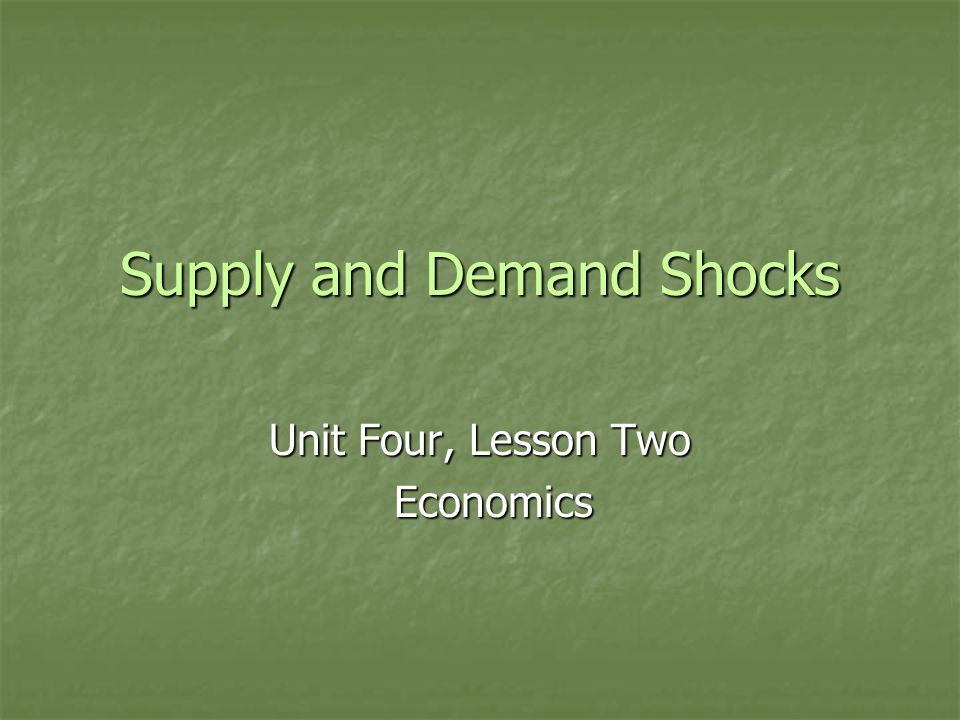 Supply and Demand Shocks Recall that equilibrium is a state of balance where Qd = Qs and there is no tendency for change at equilibrium.