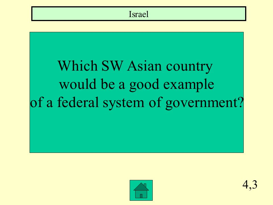 4,2 Which SW Asian country could be described as an Autocracy Saudi Arabia