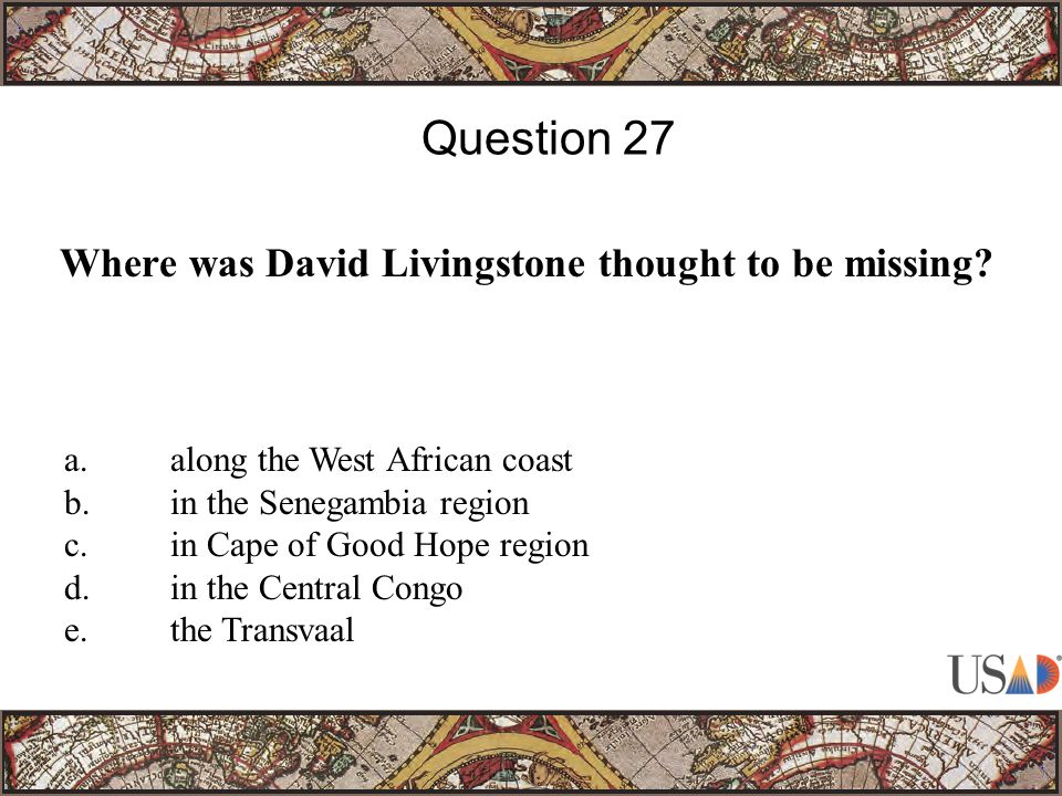 Where was David Livingstone thought to be missing.