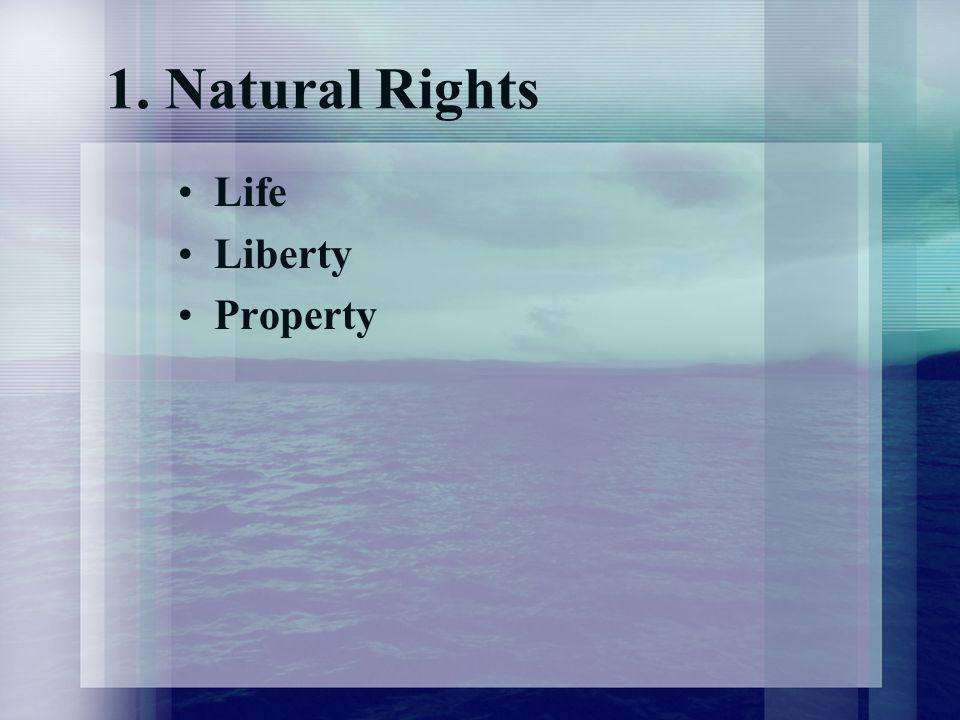 1. Natural Rights Life Liberty Property