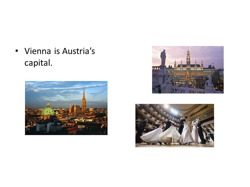 Vienna is Austria's capital.