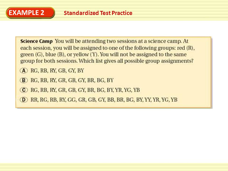 EXAMPLE 2 Standardized Test Practice