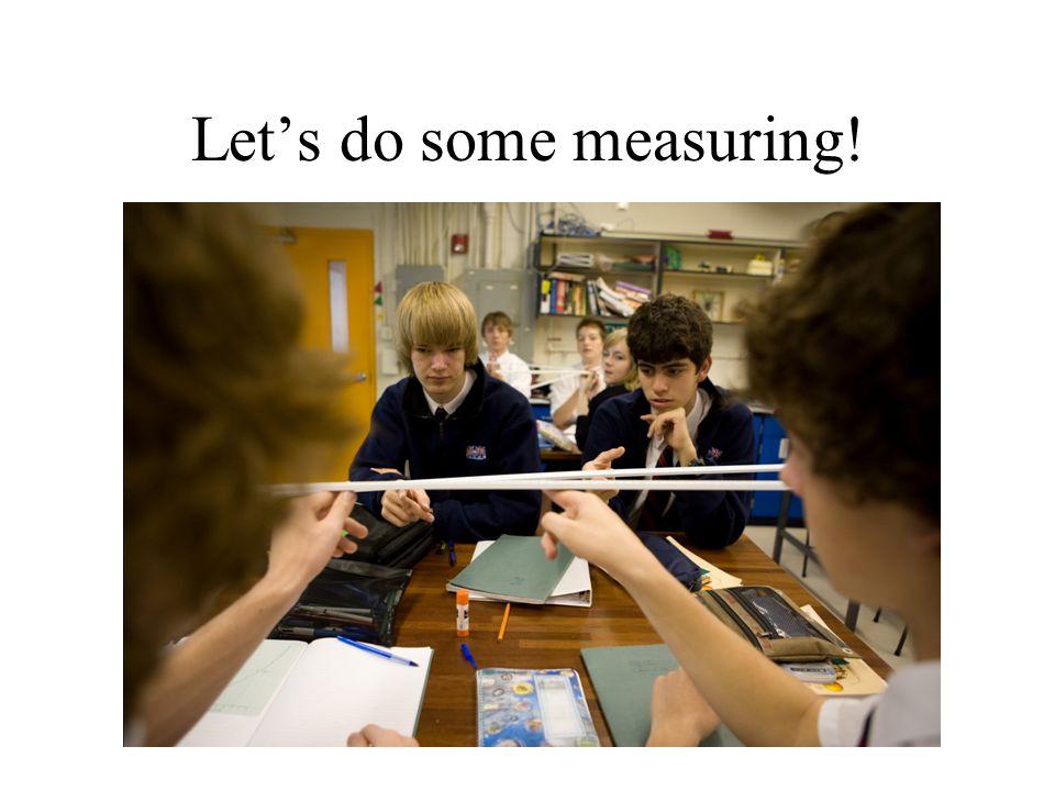 Let's do some measuring!